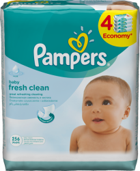 Pampers Obrúsky Baby Fresh 4x64 ks