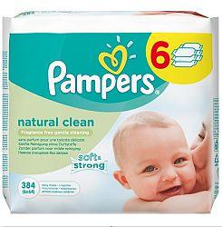 Pampers Obrúsky Natural Clean 6x64ks