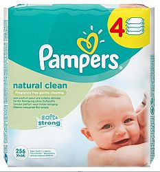 Pampers Ubrusky Natural Clean 4x64 ks