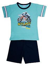Pettino Chlapčenské pyžamo s motorkou - tyrkysové, 104 cm