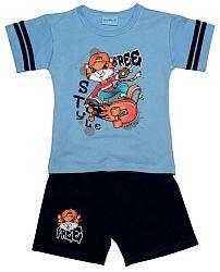 Pettino Chlapčenské pyžamo s tigrom - svetlo modré, 116 cm
