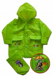 PIDILIDI Detská pláštenka Krtko - zelená, 6 let
