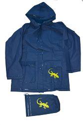 PIDILIDI Detská pláštenka Salamander + vrecúško - modrá, 6 let