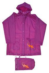 PIDILIDI Detská pláštenka Salamander + vrecúško - ružová, 8 let