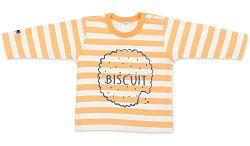 Pinokio Chlapčenské pruhované tričko so sušienkou - oranžovo-bielej, 92 cm