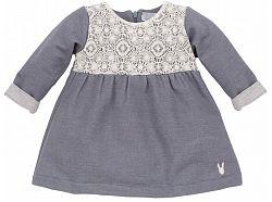 Pinokio Dievčenské šaty Colette - šedé, 98 cm