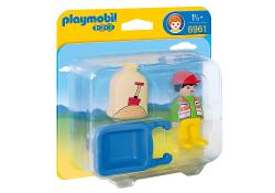 Playmobil 6961 Stavebný robotník s fúrikom