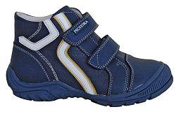 Protetika Chlapčenské kožené členkové topánky Brener - tmavo modré, EUR 28