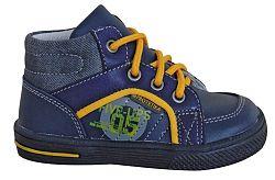 Protetika Chlapčenské kožené členkové topánky Edgar - tmavo modré, EUR 24