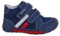 Protetika Chlapčenské kožené členkové topánky Ziper - tmavo modré, EUR 28