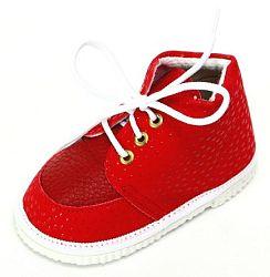 První krůčky Detské kožené topánočky - červené, EUR 19