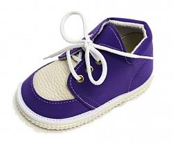 První krůčky Detské kožené topánočky - fialové, EUR 18