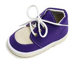 První krůčky Detské kožené topánočky - fialové, EUR 19