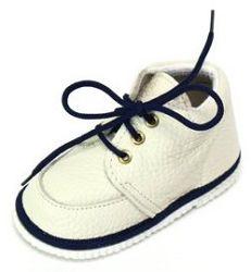 První krůčky Detské kožené topánočky - slonová kosť / tmavo modrá, EUR 22
