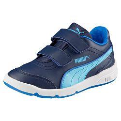 Puma Chlapčenské tenisky Stepfleex FS SL V Inf Peacoat-Blue Atoll, EUR 32