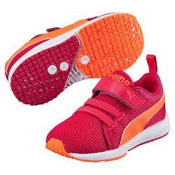Puma Dievčenské bežecké tenisky Carson Runner V - ružovo-oranžové, EUR 20