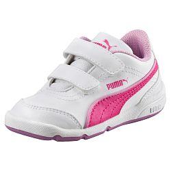 Puma Dievčenské tenisky Stepfleex FS SL V Inf White-Pink Gl, EUR 27