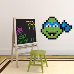 Puzzlove Dekoratívne samolepiace puzzle Korytnačky Ninja - Leonardo