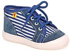 RAK Chlapčenské členkové tenisky David - modro-biele, EUR 21