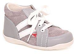 RAK Detské kožené topánočky Mia - šedé, EUR 19