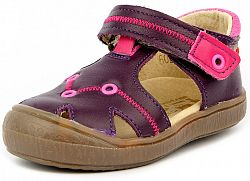 RAK Dievčenské kožené sandále Miranda - fialové, EUR 21