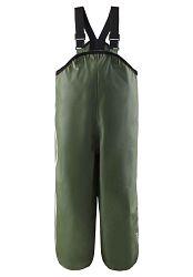 Reima Chlapčenské nepremokavé nohavice Lammikko - tmavo zelené, 116 cm