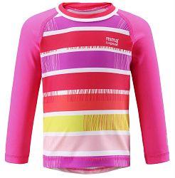 Reima Dievčenské plavecké tričko Borneo s UV 50+ - ružové, 92 cm