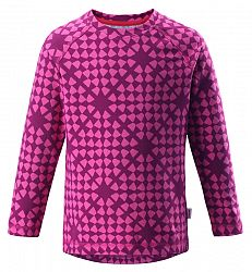 Reima Dievčenské vzorované funkčné tričko Tiptoe - ružové, 140 cm