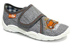 Ren But Chlapčenské papučky s oranžovým autíčkom - šedé, EUR 34