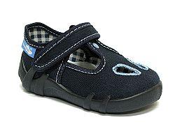 Ren But Detské papučky na suchý zips modrej farby, EUR 19