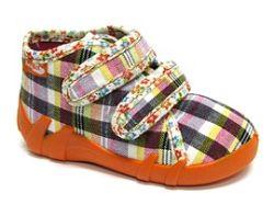 Ren But Dievčenské kockované papučky na suchý zips, EUR 22