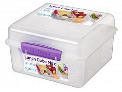 Sistema Veľký box na obed s téglik, 2 l - fialový