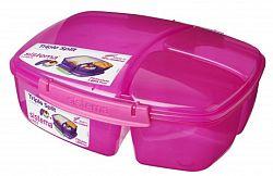 Sistema Veľký box na obed s téglikom, 2 l - ružový