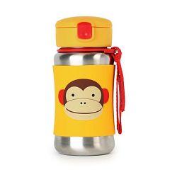 SKIP HOP Zoo Fľaša na vodu, nerez - Opička
