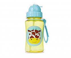 SKIP HOP Zoo fľaštička so slamkou - žirafa