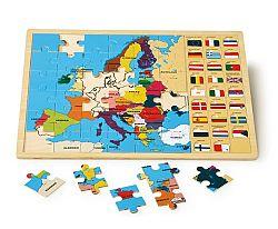 Small foot Vkladacie puzzle - Európske štáty