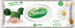 SMILE Vlhčené obrúsky Baby 0+ s výťažkom z harmančeka a aloe vera 72 ks s plastovým uzáverom