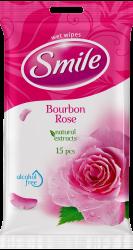 SMILE Vlhčené obrúsky Bourbonská ruža 2x15 ks
