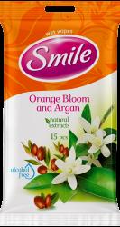 SMILE Vlhčené obrúsky Pomaranč / arganový olej 2x15 ks