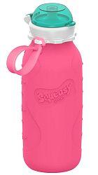 Squeasy Gear Silikónová fľaša 480ml, ružová