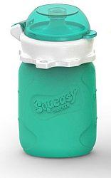 Squeasy Gear Silikónová kapsička na detskú stravu 104ml, aqua