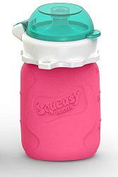 Squeasy Gear Silikónová kapsička na detskú stravu 104ml, ružová
