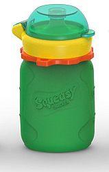 Squeasy Gear Silikónová kapsička na detskú stravu 104ml, zelená