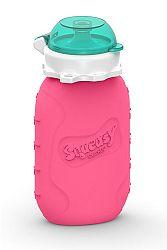 Squeasy Gear Silikónová kapsička na detskú stravu 180ml, ružová