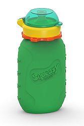 Squeasy Gear Silikónová kapsička na detskú stravu 180ml, zelená