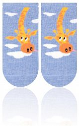 STEVEN Detské ponožky so žirafou - tmavo modré
