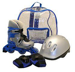 Sulov Súprava - korčule, prilba a chrániče, modrá - veľkosť M
