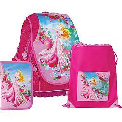 SunCe Anatomický školský SET ABB batoh Disney Princezné Ruženka