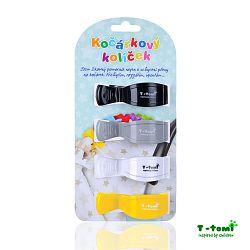 T-tomi Kočíkový štipček, čierna + sivá + biela + žltá