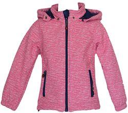 Topo Dievčenská bunda s kožušinkou - ružová, 134 cm